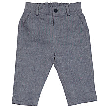 Buy John Lewis Woven Herringbone Trousers, Grey Online at johnlewis.com