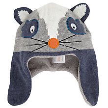 Buy John Lewis Raccoon Trapper Hat, Grey Online at johnlewis.com