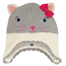 Buy John Lewis Cat Trapper Hat, Grey/White Online at johnlewis.com