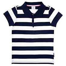 Buy Polarn O. Pyret Baby Stripe Polo Shirt, Navy/White Online at johnlewis.com