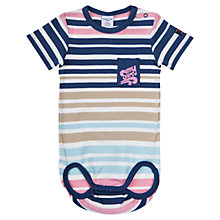 Buy Polarn O. Pyret Baby Stripe Bodysuit, Blue/Multi Online at johnlewis.com