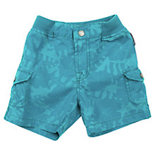 Buy Polarn O. Pyret Baby Hibiscus Print Cargo Shorts, Blue Online at johnlewis.com