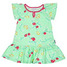 Buy Polarn O. Pyret Baby Floral Print Jersey Dress, Green Online at johnlewis.com