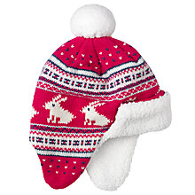 Buy John Lewis Fair Isle Hat, Pink Online at johnlewis.com