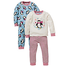 Buy John Lewis Baby Penguin Pyjamas, Pack of 2, Pink/Blue Online at johnlewis.com