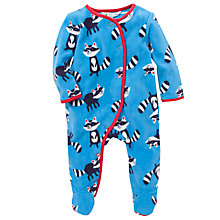 Buy John Lewis Baby Raccoon Fleece Sleepsuit, Blue Online at johnlewis.com