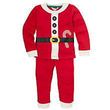 Buy John Lewis Santa Pyjamas, Red Online at johnlewis.com