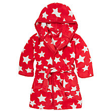Buy John Lewis Baby Star Robe, Red/White Online at johnlewis.com