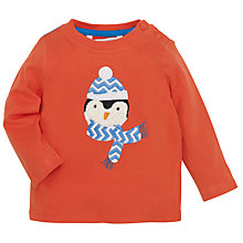 Buy John Lewis Crochet Penguin Long Sleeve T-Shirt, Orange Online at johnlewis.com
