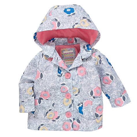 Buy John Lewis Floral Rain Mac, Grey/Multi Online at johnlewis.com