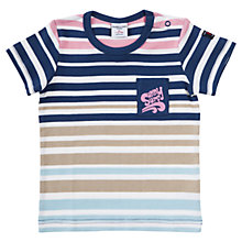 Buy Polarn O. Pyret Baby Stripe Cotton T-Shirt, Multi Online at johnlewis.com