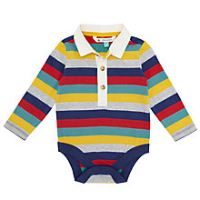 Buy John Lewis Multi Stripe Rugby Bodysuit, Multi Online at johnlewis.com
