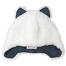 Buy John Lewis Furry Trapper Hat, White/Black Online at johnlewis.com