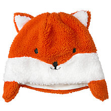 Buy John Lewis Fox Trapper Hat, Orange Online at johnlewis.com