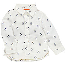 Buy John Lewis Penguin Print Shirt, White Online at johnlewis.com
