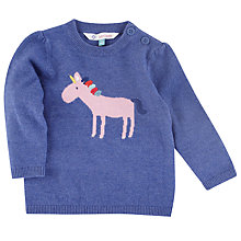 Buy John Lewis Unicorn Marlborough Jumper, Navy Online at johnlewis.com