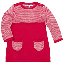Buy John Lewis Stripe Knit Dress, Red/White Online at johnlewis.com