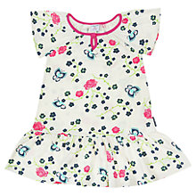 Buy Polarn O. Pyret Baby Floral Print Jersey Dress, Cream Online at johnlewis.com