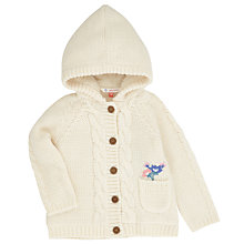 Buy John Lewis Borg Lined Cardicoat, Cream Online at johnlewis.com