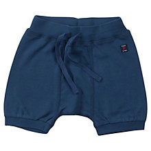 Buy Polarn O. Pyret Baby Organic Cotton Jersey Shorts, Navy Online at johnlewis.com