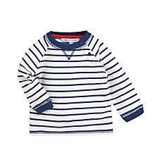 Buy John Lewis Cotton Jersey Jumper, Navy/White Online at johnlewis.com