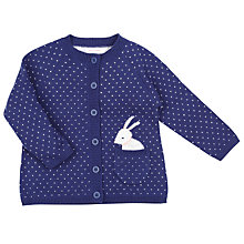Buy John Lewis Rabbit Pocket Cardigan, Navy Online at johnlewis.com