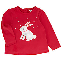 Buy John Lewis Rabbit Long Sleeve T-Shirt, Pink Online at johnlewis.com