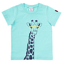 Buy Polarn O. Pyret Giraffe Safari T-Shirt, Blue Online at johnlewis.com