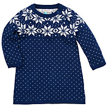 Buy John Lewis Snowflake Knitted Dress, Blue Online at johnlewis.com