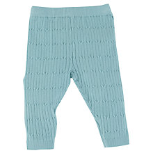Buy John Lewis Cable Knit Leggings, Green Online at johnlewis.com