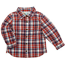 Buy John Lewis Gingham Check Shirt, Red/Blue Online at johnlewis.com