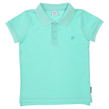 Buy Polarn O. Pyret Child Polo Shirt, Blue Online at johnlewis.com