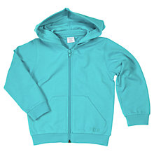 Buy Polarn O. Pyret Zip-Through Hoodie, Turquoise Online at johnlewis.com