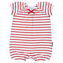 Buy Polarn O. Pyret Stripe Playsuit, Red/White Online at johnlewis.com