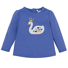 Buy John Lewis Swan Long Sleeve T-Shirt, Blue Online at johnlewis.com