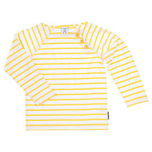 Buy Polarn O. Pyret Child Stripe Top, Yellow Online at johnlewis.com