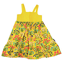 Buy Polarn O. Pyret Baby Floral Print Strap Dress, Yellow Online at johnlewis.com