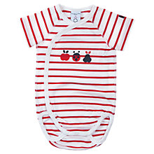 Buy Polarn O. Pyret Baby Stripe Ladybug Bodysuit, Red/White Online at johnlewis.com