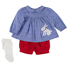 Buy John Lewis Rabbit Woven Top & Shorts & Tights Set, Multi Online at johnlewis.com