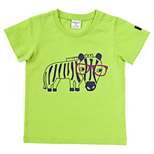 Buy Polarn O. Pyret Baby Zebra Print T-Shirt, Lime Green Online at johnlewis.com