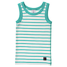 Buy Polarn O. Pyret Baby Stripe Vest, Teal Online at johnlewis.com