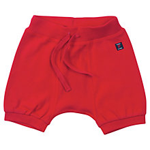 Buy Polarn O. Pyret Baby Organic Cotton Jersey Shorts, Red Online at johnlewis.com