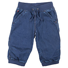 Buy Polarn O. Pyret Elasticated Waistband Denim Shorts, Blue Online at johnlewis.com
