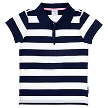 Buy Polarn O. Pyret Wide Stripe Cotton Polo Shirt, Navy/White Online at johnlewis.com