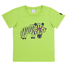Buy Polarn O. Pyret Zebra Animal Print T-Shirt, Lime Green Online at johnlewis.com