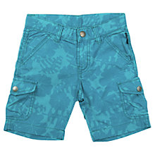 Buy Polarn O. Pyret Hibiscus Print Cargo Shorts, Blue Online at johnlewis.com