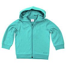Buy Polarn O. Pyret Baby Zip-Through Hoodie, Aqua Blue Online at johnlewis.com