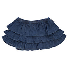 Buy Polarn O. Pyret Girls' Denim Ruffle Skirt, Blue Online at johnlewis.com