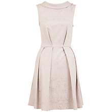Buy Almari V-Back Jaquard Dress, Pale Grey Online at johnlewis.com