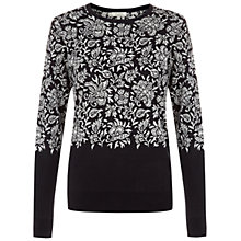 Buy Hobbs Batik Butterfly Jumper, Navy/Pebble Online at johnlewis.com